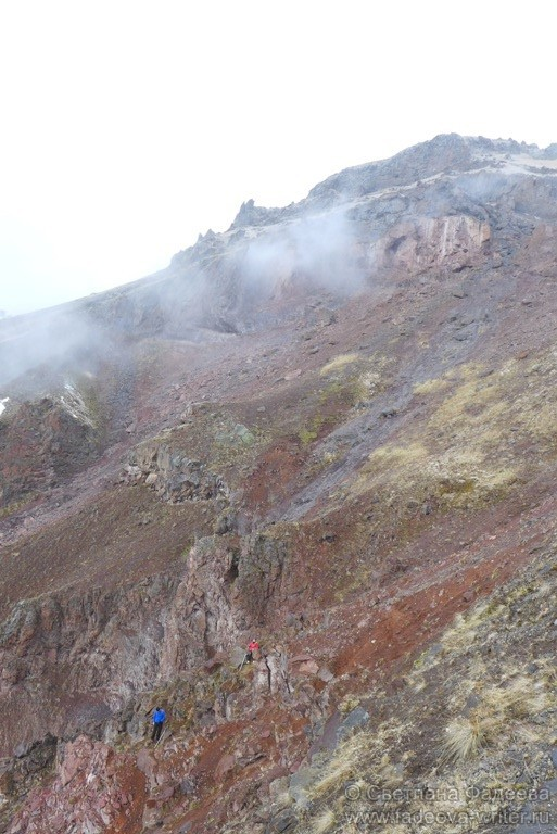На «карте» горного склона