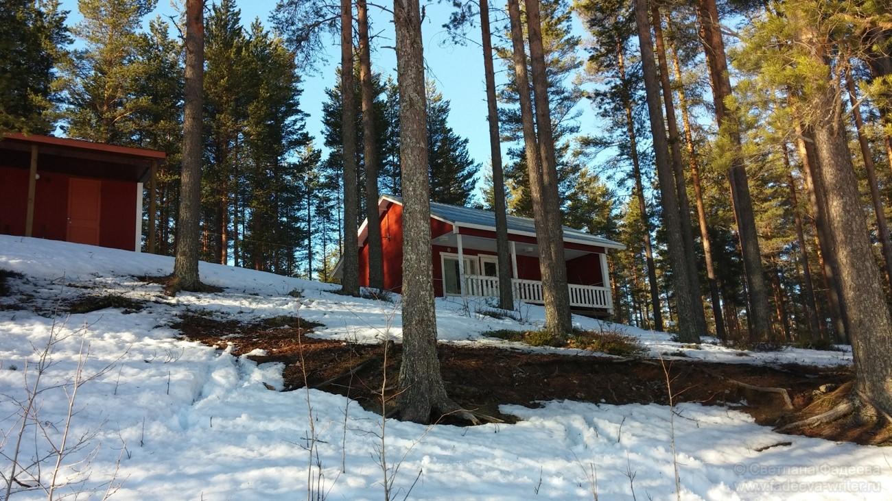Наш чудесный деревянный коттедж в небольшой финской деревушке Иломантси.