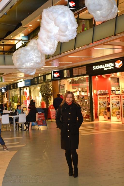 В центральном супермаркете вот такие причудливые облака.