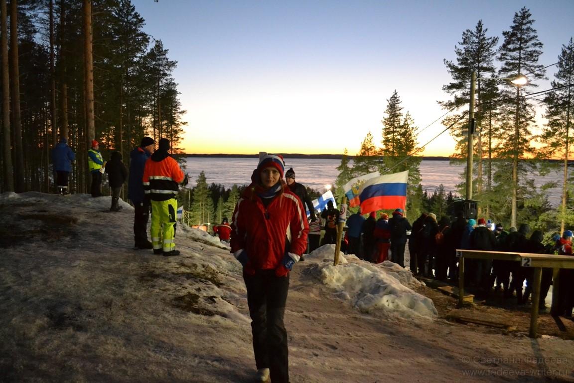 Ощущение, что вся Финляндия в этот день болеет за Кайсу Макарайнен, которая сохраняла интригу до самого финиша.