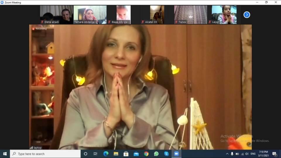 Светлана Фадеева в гостях у детского читательского клуба «Филипок» (Иордания)